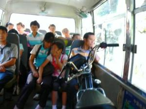 Moto in the bus