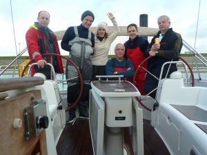 L'équipage au complet à Nieuwpoort