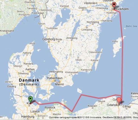 Voilier en mer Baltique, voici le parcours !