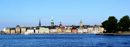 Stockholm vu depuis l'eau