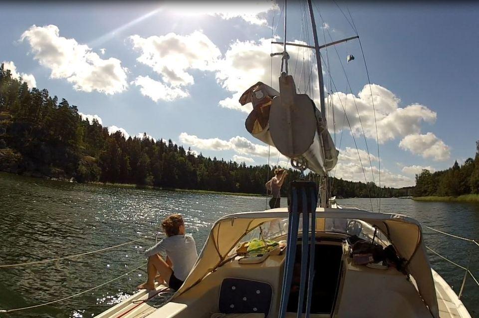 Navigation dans l'archipel de Stockholm