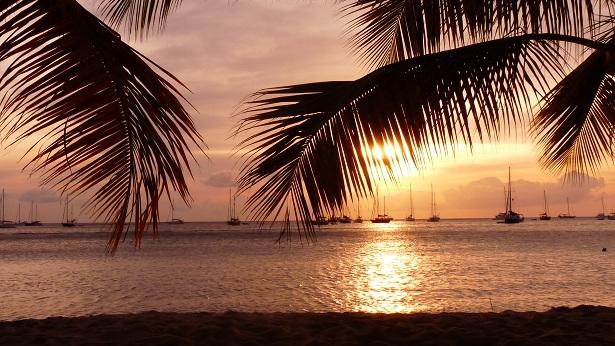 Coucher de soleil aux Antilles