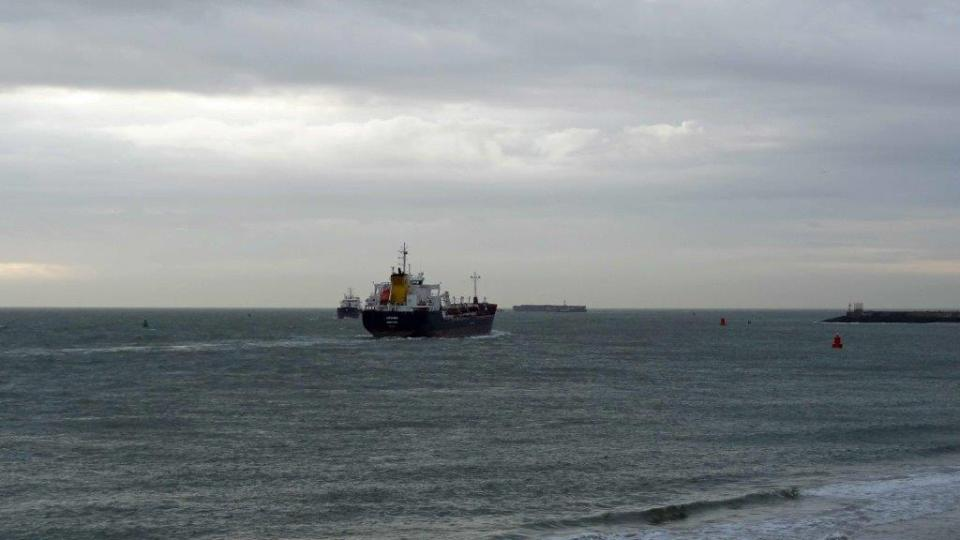 Les cargos croisent à quelques centaines de mètres de Vlissingen
