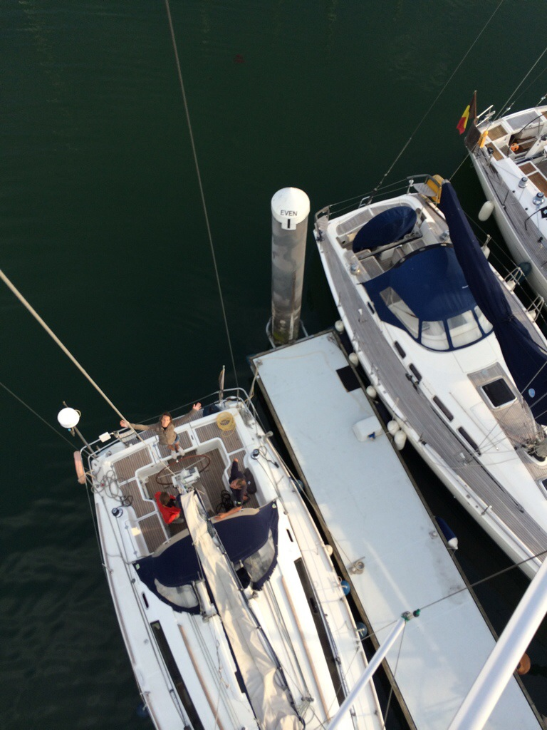 From the top of the mast of Foxtrot - Oceanis 37