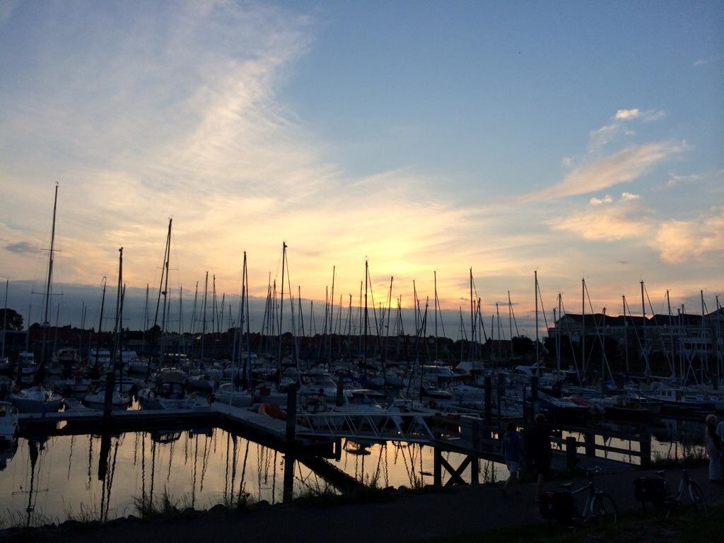 Wemeldinge harbor sunset