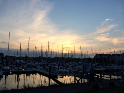 Wemeldinge harbor sunset