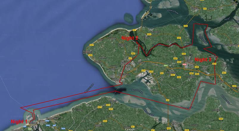 3 day sailing trip from Zeebrugge - Oosterschelde Westerschelde