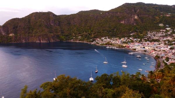 Mouillage a Soufriere Sainte Lucie